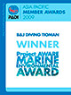 Project Aware Award for B&J Diving Centre