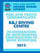 Recognition on Outstanding Award for B&J Diving Centre