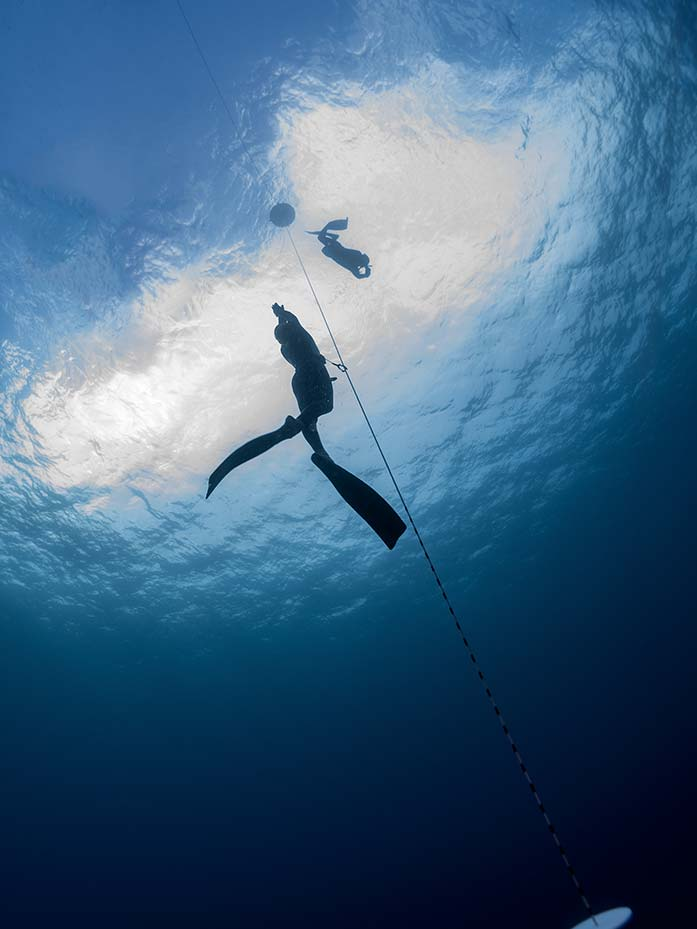 Freediving with B&J on TIoman