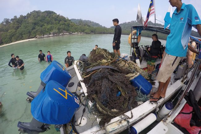 We collected so much debris it filled the back of our biggest speedboat!